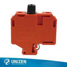 保险丝接线端子JUT4-10RD导轨接线端子熔断器型接线端子