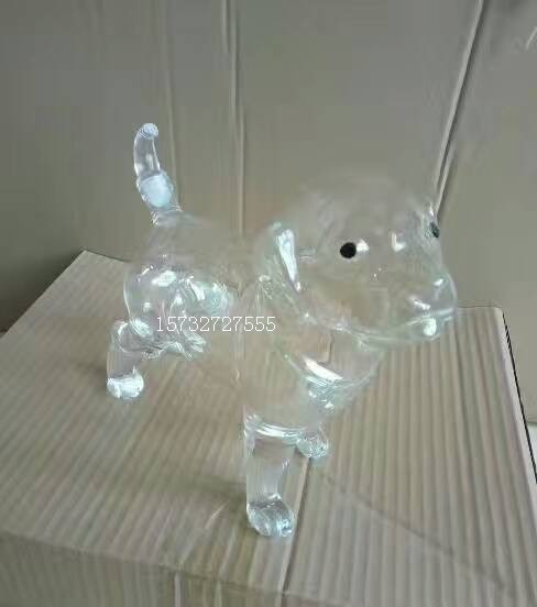 500ml哈巴狗造型玻璃酒瓶手工吹制玻璃工艺酒瓶