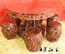 缅甸花梨餐厅圆桌料大工细精雕细做经久耐用艺术价值高