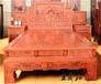 精雕缅甸花梨大床王作作品气势威武雕工精美细致古色古香