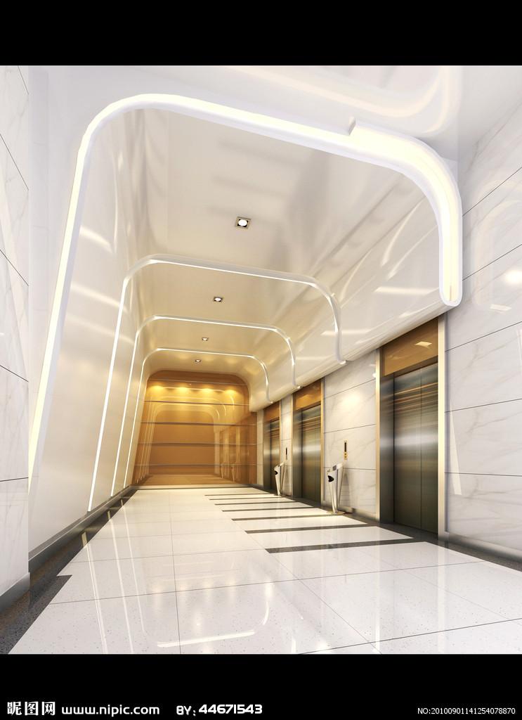 电梯厅设计效果图