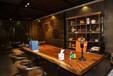胡桃木现代中式家具办公桌会议桌茶桌