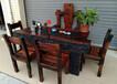 老船木家具茶几实木茶桌椅子沉船木茶台办公桌椅