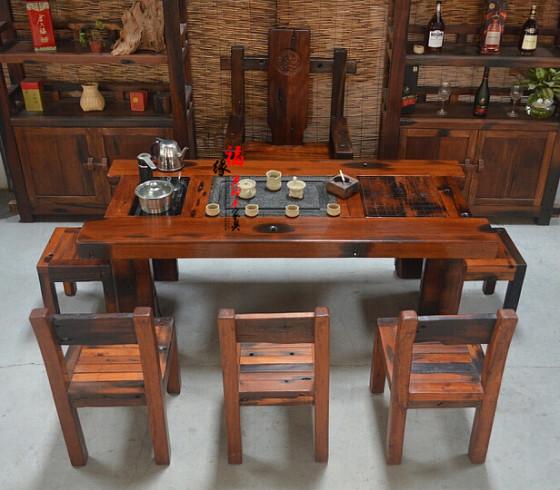古典船木家具中式古船茶台茶几