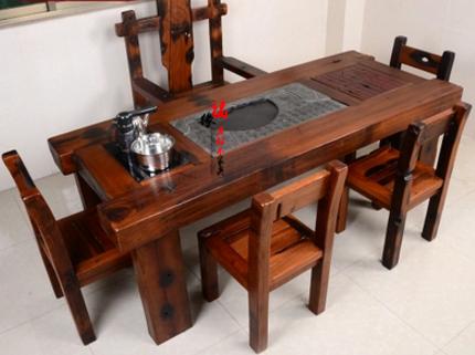 老船木家具茶桌茶台椅子长凳沙发图片