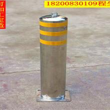 埋地式钢管提示柱固定路桩提示柱反光道路防撞柱不锈钢路桩