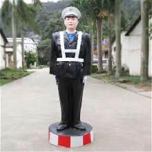 指挥交警仿真警察模似警察假警察立正举手停敬礼举牌