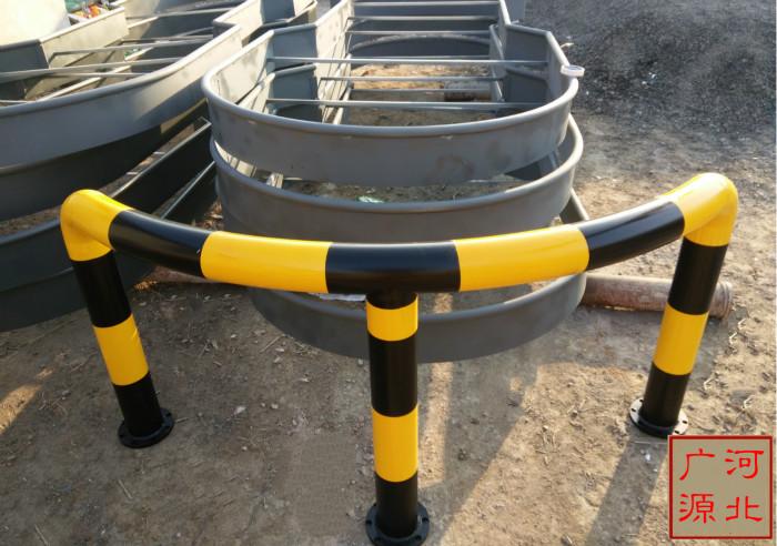 加油站弧形防撞护栏中石油标准件加油岛防撞柱