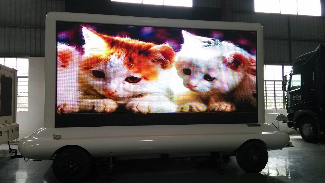 【户外P10P8P6LED显示屏牵引车车载屏移动广告车厂家直销】_黄页88网