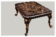 ktv茶几大理石材质实木脚品质价格双赢尽在荣福家具