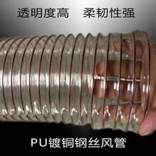 PU聚氨酯钢丝伸缩风管通风除尘波纹管透明塑料软管图片