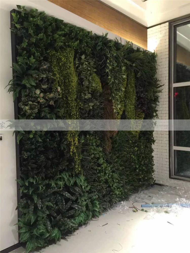 花艺制品信息  北京酒店仿真植物背景墙定做绿化墙体