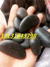 邯郸那里有卖黑色鹅卵石邯郸黑色鹅卵石批发3-5公分黑色雨花石批发图片