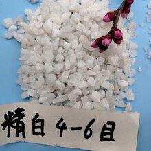 鹤壁雪花白石英砂永顺白色石英砂出售图片