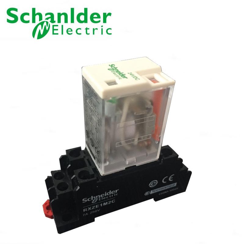 施耐德rxm2lb2bd小型继电器24vdc