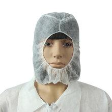 海盗帽无纺布太空帽一次性帽子带披肩带口罩防尘