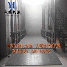 专业厂家定制唐山大吨位固定垂直仓库用货梯升降机哪家做的好,价格合理图片