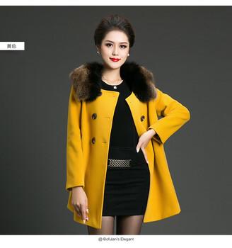 汉派大码女装武汉一线品牌柏芙澜高端冬装羊绒大衣尾货分份批发