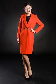 汉派大码品牌女装圣尼轩16年冬装羊毛呢大衣尾货批发