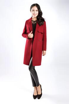 高端大码品牌折扣尾货女装双面羊绒冬装大衣分份批发