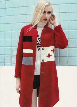 香稻人高端冬装羊剪绒大衣品牌折扣尾货女装一手货源分份批发