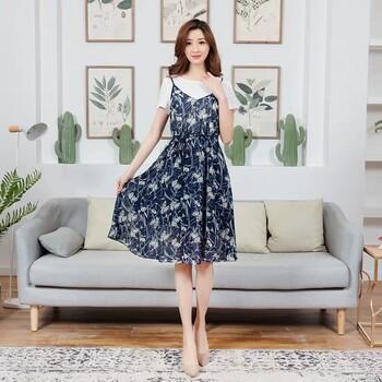 武汉大码女装品牌依丽诺依19年夏装折扣尾货批发直播大码女装尾货批发