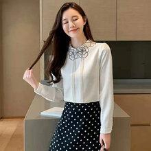 武汉大码小衫女装品牌琦丽莎女装2021年春秋长袖上衣尾货批发图片
