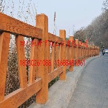 四川塑石仿木栏杆塑石仿树皮栏杆驰升专业供应图片