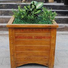 四川馳升GRC水泥仿木花箱,花箱隔離帶,混凝土仿樹皮垃圾桶廠家