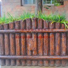 四川馳升GRC水泥仿木花箱,混凝土仿木垃圾桶廠家