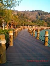 自貢戶外環保水泥仿木欄桿廠家,馳升廠家供應仿木花箱,仿木樹樁圖片