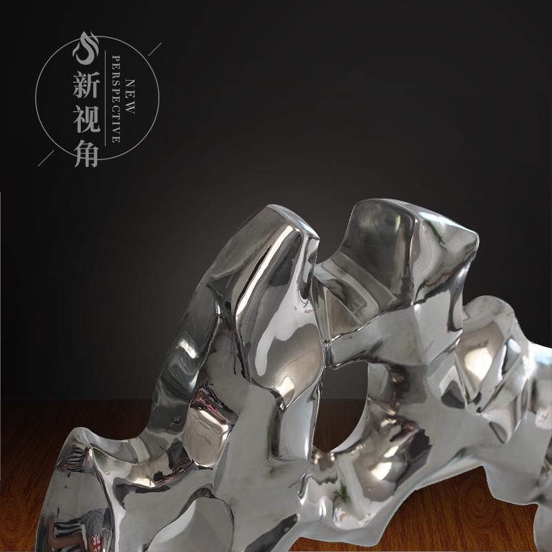 定制欧式金属工艺品雕塑酒店高档锻造亮光经典不锈钢雕塑摆件