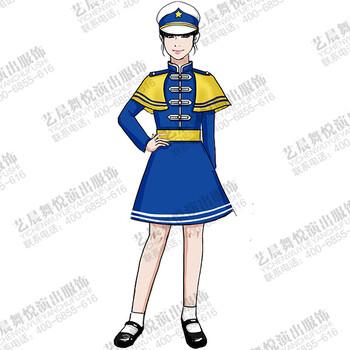 校园学生行进队服装升国旗学生专用服装设计