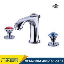 伊品卫浴专业分体式三孔面盆冷热水龙头生产厂家图片