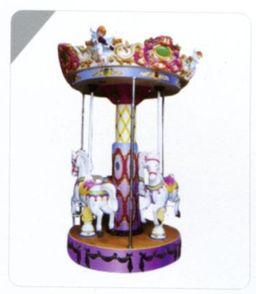 史可威3人天使转马儿童旋转木马公园大型儿童游乐设施大型旋转木马