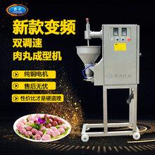 商用自动制作鱼圆鱼丸机厂家直销变频调速挤肉丸设备图片