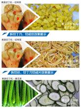 商用果蔬切丁机一次性切割芋头苹果蒜粒丁设备图片