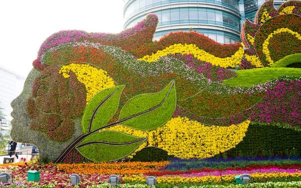 立体花坛花卉造型绿雕城市雕塑节日造型