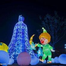 厂家直销仿真植物造型绢花造型仿真绿雕大型灯展水泥雕塑