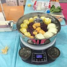 家用蒸汽锅双层带蒸盘304不锈钢食品级厨房必备图片