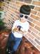 男童长袖T恤2016春装童装儿童宝宝女童卡通打底衫体恤上衣潮(E)