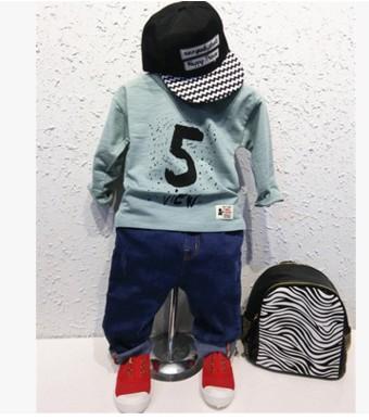 童装男童16新款春款韩版长袖T恤衫儿童棉质打底衫2-3-4-5-6岁(E)