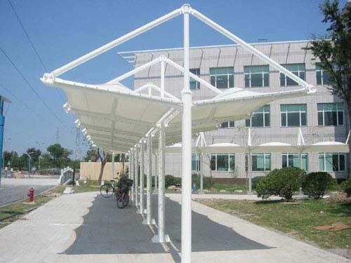 建筑膜结构车棚景观棚等图片