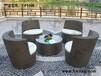 户外桌椅阳台家具庭院藤编组合藤椅三件套编藤休闲庭院花园套件