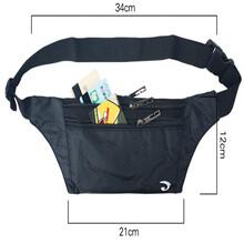 三拉链卡包户外运动腰包贴身防盗旅行手机跑步腰包厂家定制图片
