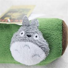 韩国创意小清新可爱中学生女生文具收纳袋容量立体龙猫笔袋毛绒