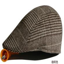帽子厂家直销羊毛中老年帽子保暖防风毛呢冬季男女鸭舌帽定做图片