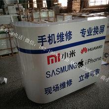 上海订做中国移动发光系前台长宁全网通收银台土豪金收银维修一体柜维修台