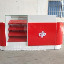 供应定做彩票展示柜厂家2017新款中国福利彩票收银台连体玻璃柜福彩销售柜