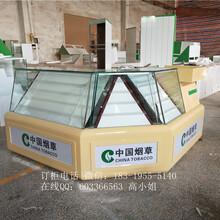 新款木质烤漆中国烟草展示柜台烟柜玻璃柜灯箱画面可发光卷烟柜台
